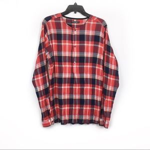 Dolce & Gabanna plaid half button up shirt